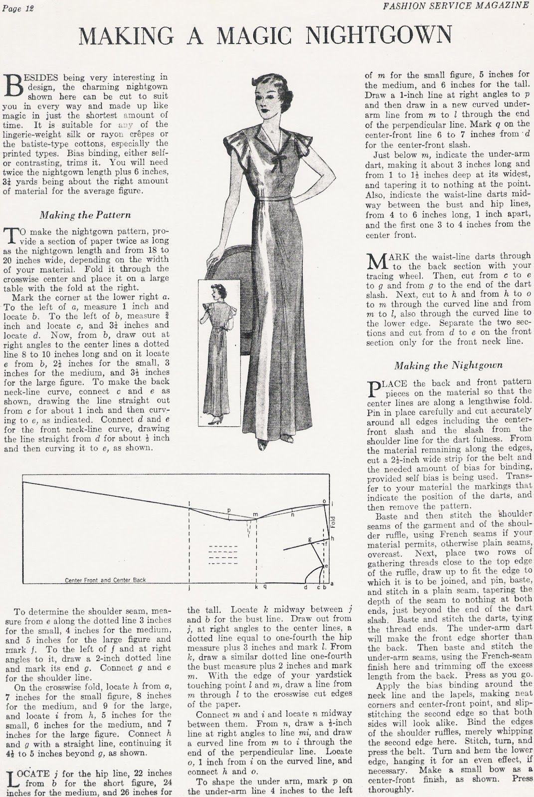 Sewing Vintage | Schnitte | Pinterest | Patrones, Costura y Molde