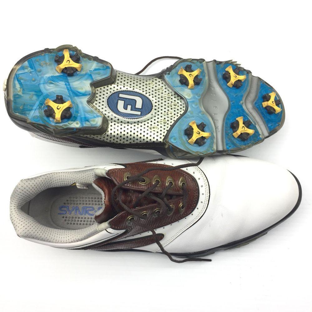 1f90aecad487 FootJoy Mens Golf Shoes Size 12 Optiflex2 White Memory Foam Spiked (eBay  Link)