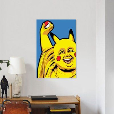 "East Urban Home 'Pokebuddha' Graphic Art Print on Canvas Size: 26"" H x 18"" W x 0.75"" D"