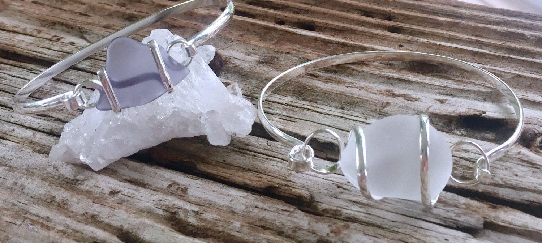 Sea Glass Bracelets, Silver Sea Glass Bracelets, Resort Bracelets, Nautical Bracelets, Unique Sea Glass Jewelry, Sea Glass Jewelry, Bracelet by Ancientvibrationshop on Etsy  www.etsy.com/shop/ancientvibrationshop