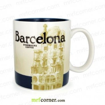 SM062 16oz Starbucks Spain Barcelona Global Icon Series City Mug