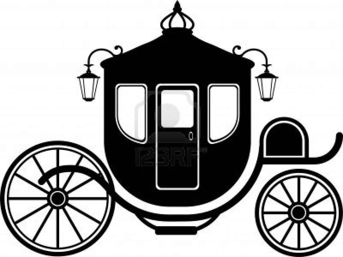 Carriage In Silhouette Over White Eps 8 Castle Silhouette Silhouette Cinderella Carriage