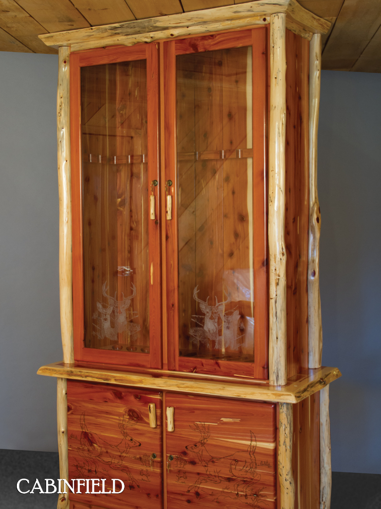 red cedar amish gun cabinet in 2019 cabinfield amish furniture rh pinterest com