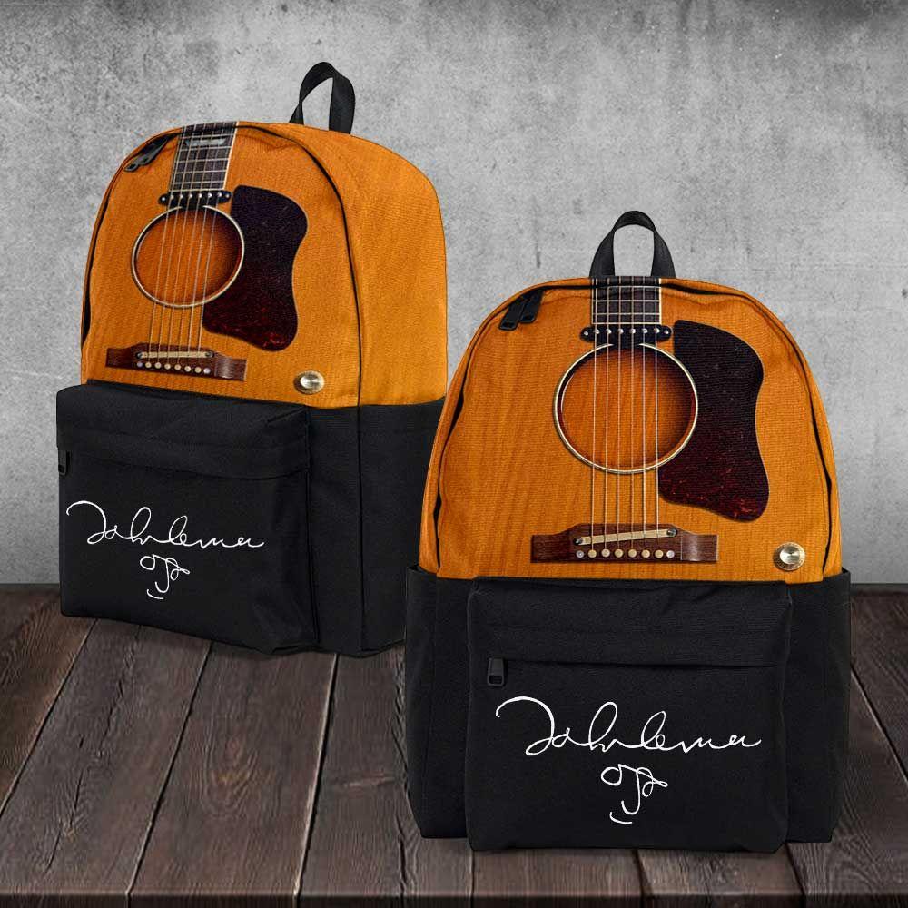 Music Instrument Music Guitar Backpack Accessories Acoustic Acoustic Guitar Electric Electric Guitar Bob Marley School John Lennon Lennon Backpacks