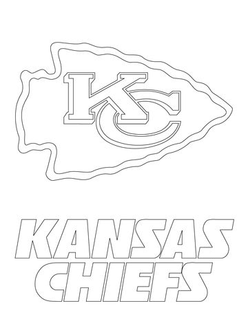 Kansas City Chiefs Logo Coloring Page With Images Kansas City