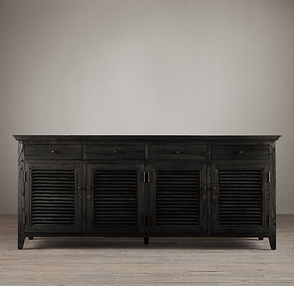 Shutter Low Cabinet from Restoration Hardware - in Black Oak ...