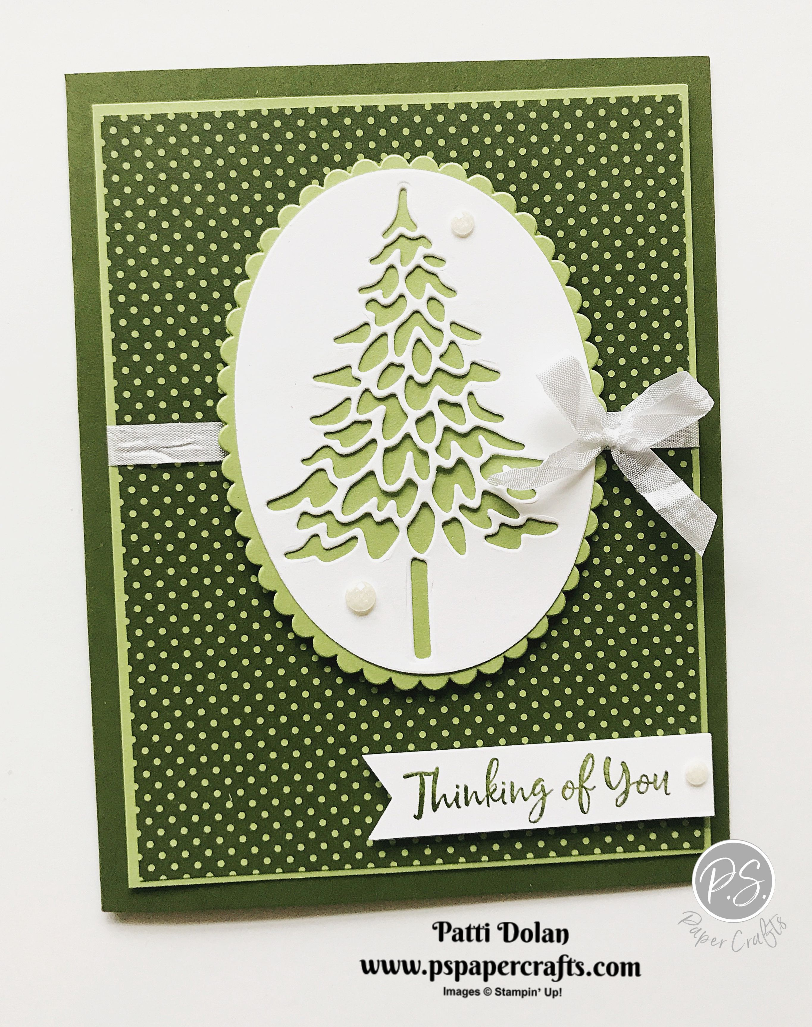 Handmade Cards Using 2020 Christmas Dsp From Stampin Up In The Pines   Thinking Of You — P.S. Paper Crafts in 2020