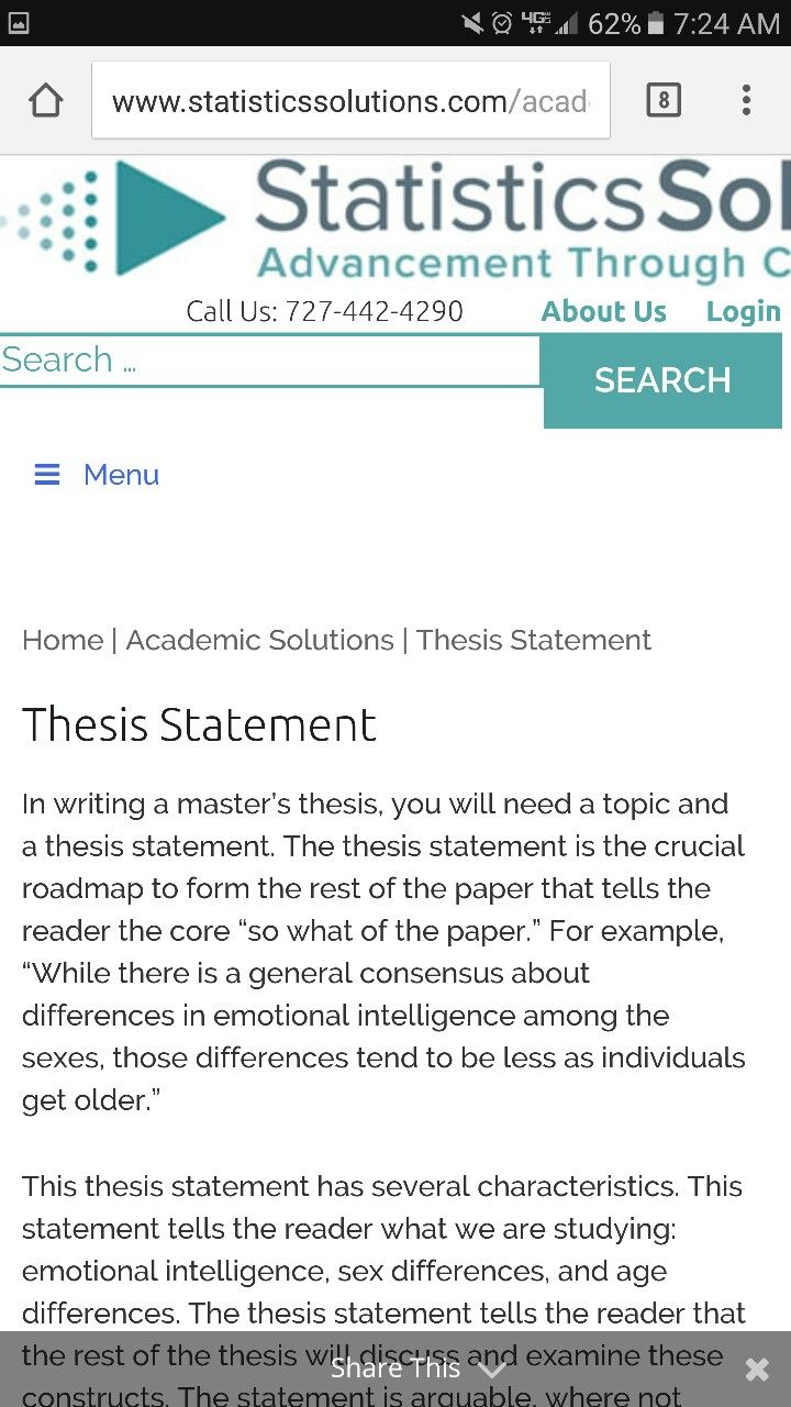 Strong Thesis Statements // Purdue Writing Lab