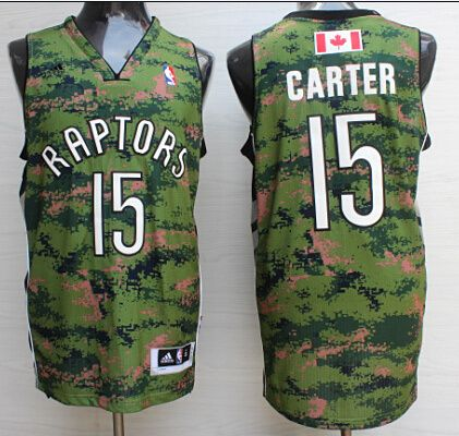 05729f89df8 NBA #15 Carter Toronto Raptors camo jersey | Wholeasale quality ...