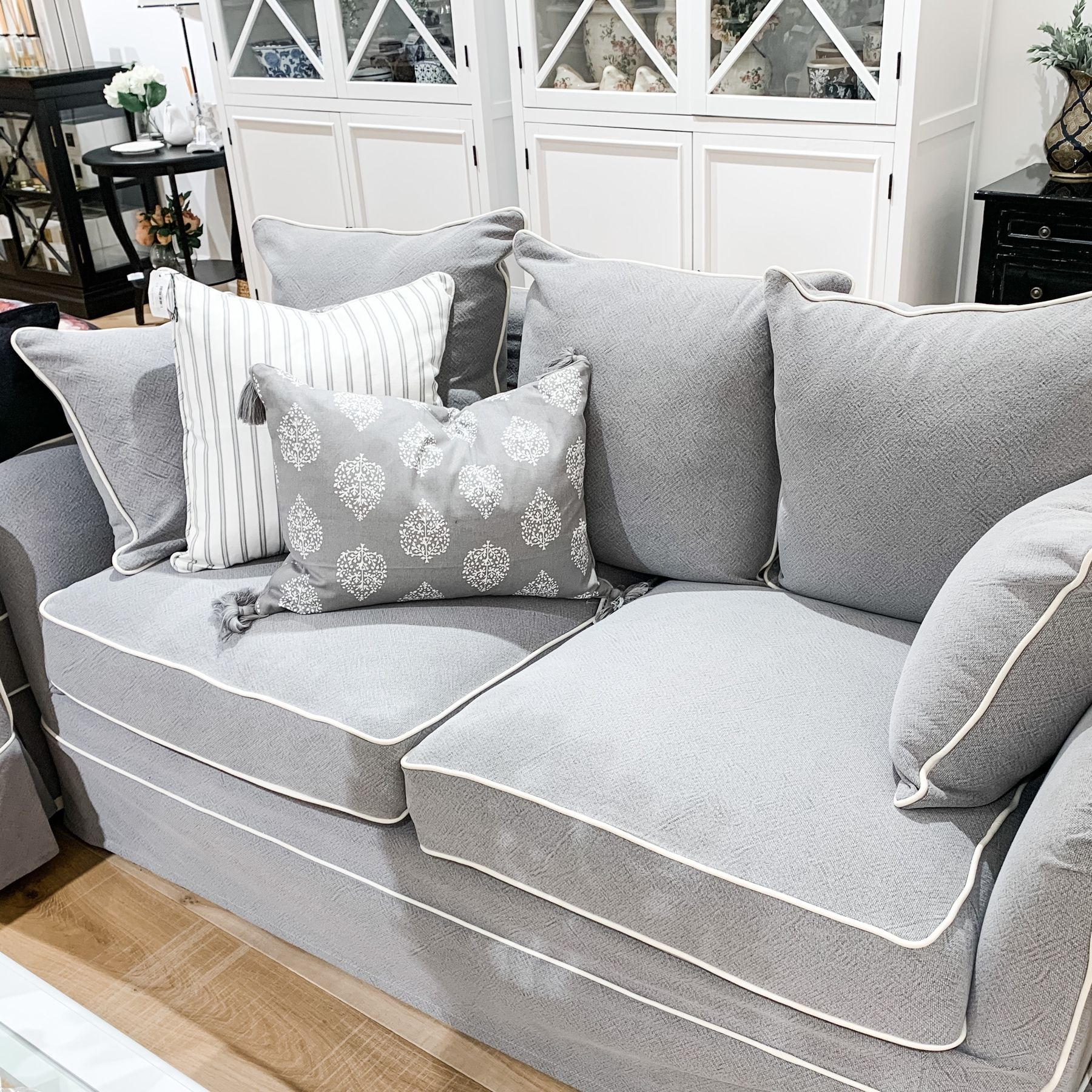 Our Cape Cod 2 Seater Sofa Combines Comfort And Class The Plush Cushion Inners Are Made From In 2020 Local Furniture Stores Lounge Cushions Black And White Furniture