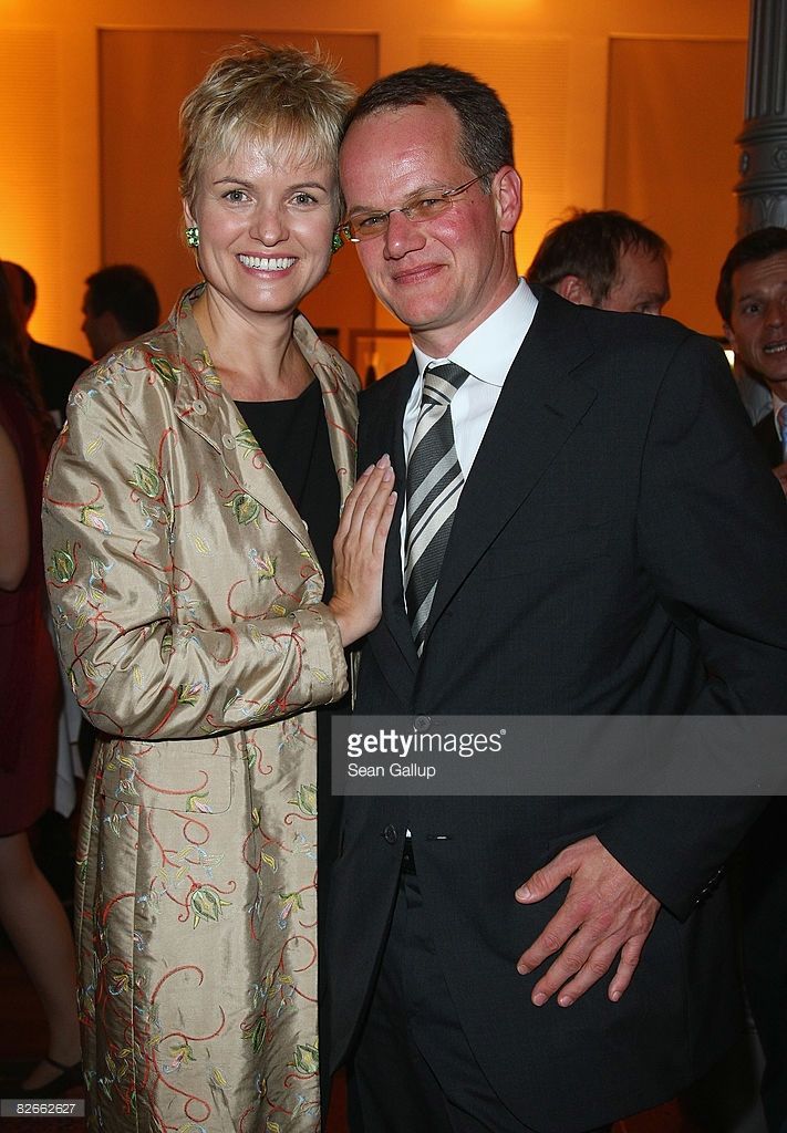 Television presenter Carola Ferstl and her husband Anton Vogelmaier attend the…