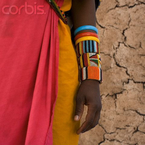 Colorful Bangles on Maasai Woman's Arm - 42-19182383 - Rights Managed - Stock Photo - Corbis