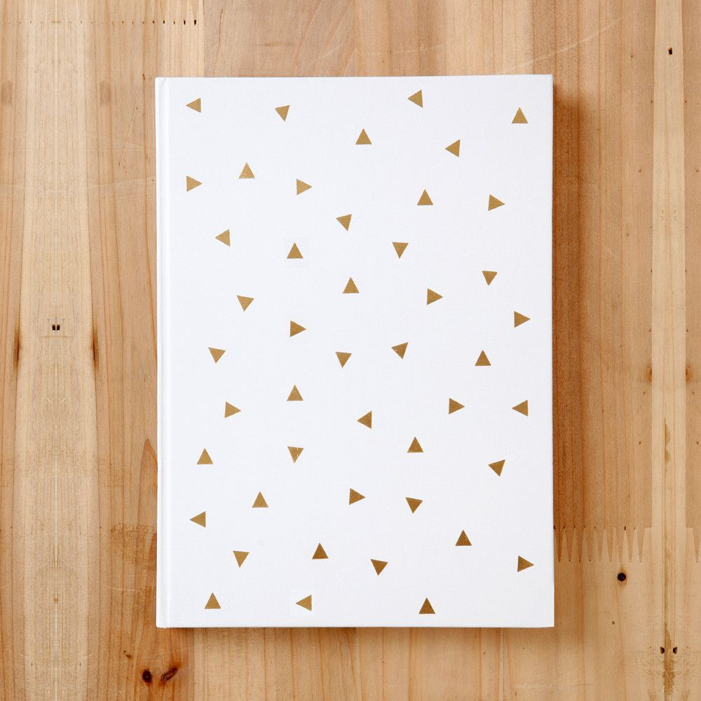Triangle Gold Foil Journal