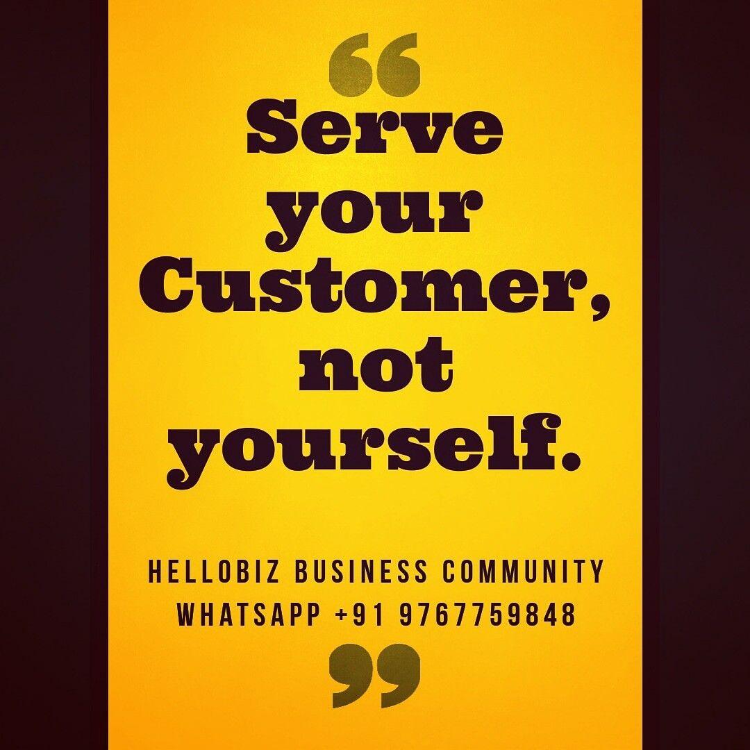 Hasil gambar untuk Serve your customer, not yourself