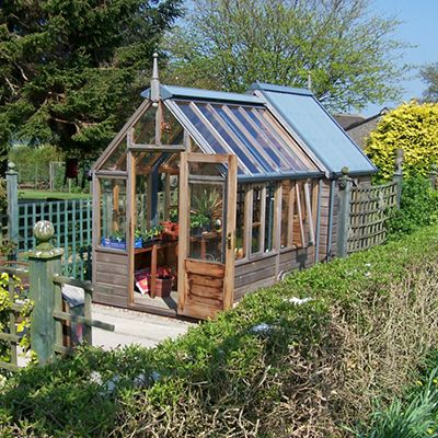 Rosemoore Combi Greenhouse Shed Wood Frame Greenhouses 400 x 300