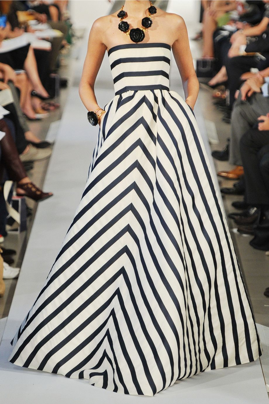 Oscar de la Renta | Striped silk-blend gazar gown | double take ...
