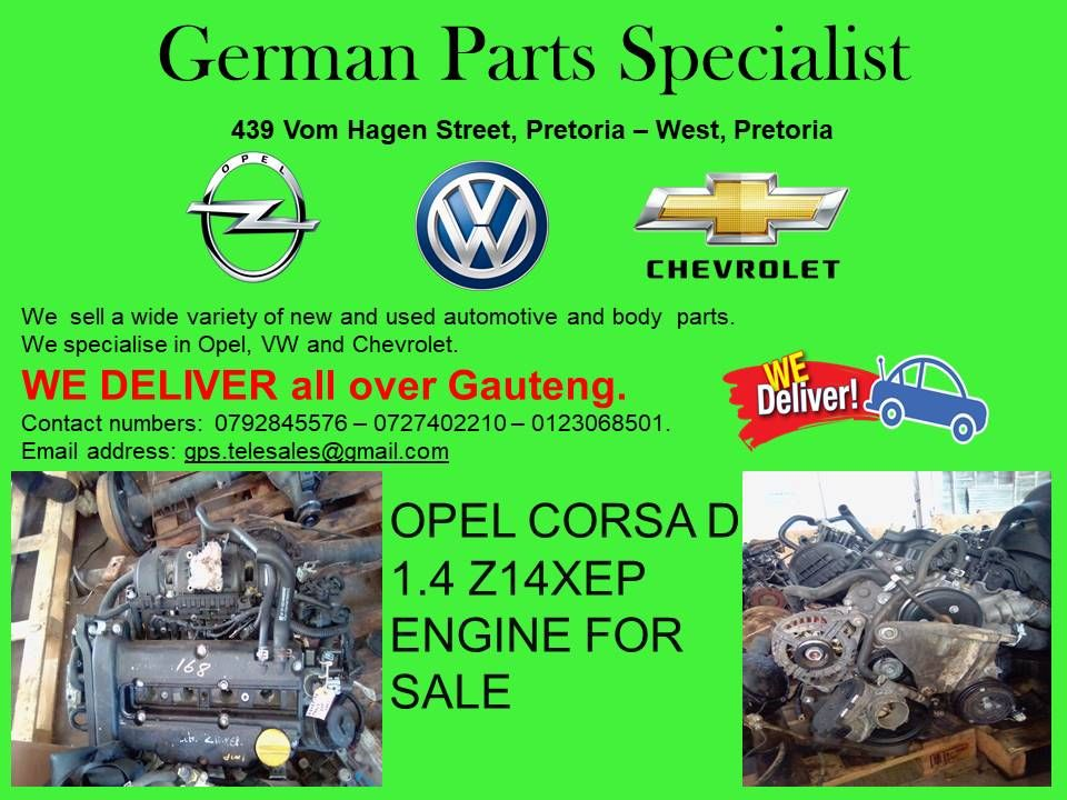 At German Parts Specialists We Specialise In Volkswagen Opel And Chevrolet With Us You Can Get Any Parts That You Are In Engines For Sale Opel Sell Used Car