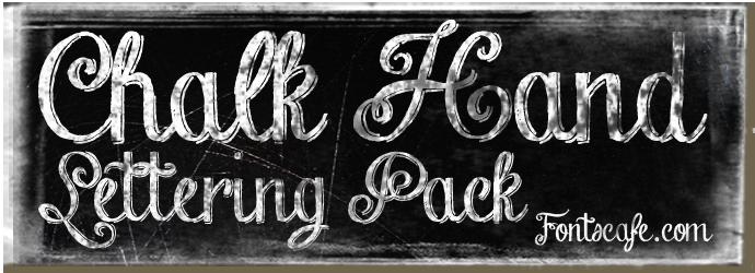 "Download ""Chalk Hand Lettering Pack"" fonts | Lettering, Hand ..."