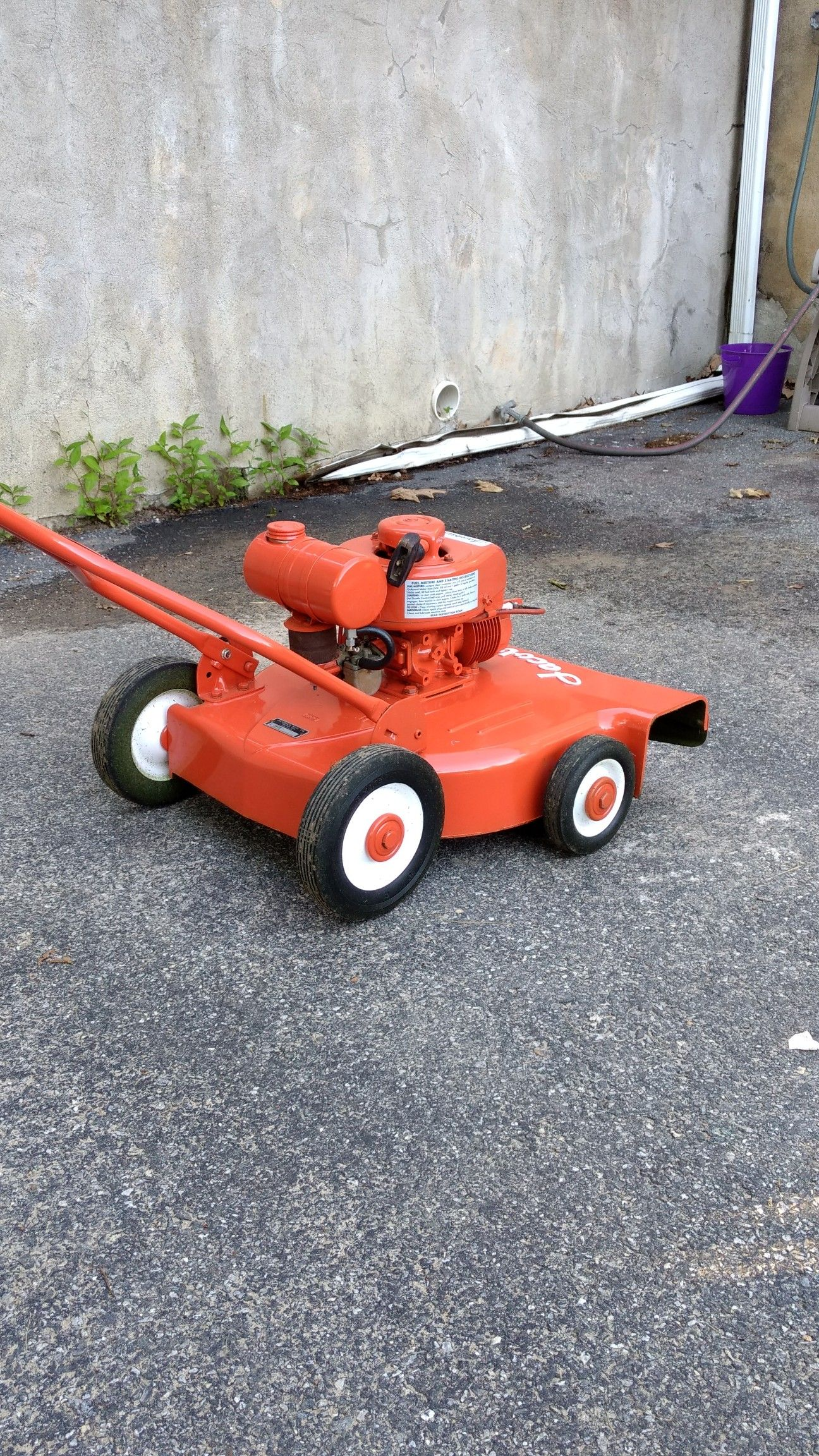 Rare 1st generation Jacobsen turbo cut | Old 2 cycle lawn mowers