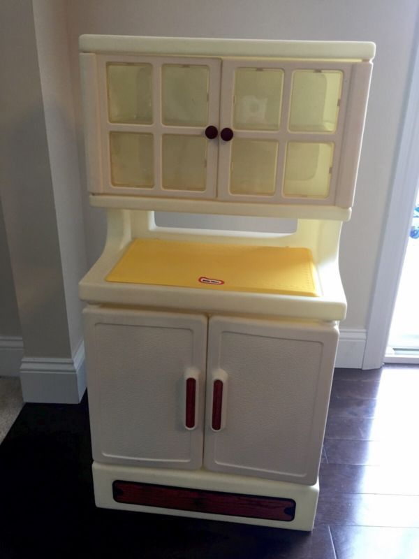 Vintage LITTLE TIKES Kitchen Hutch Pantry China Cabinet Cupboard ...