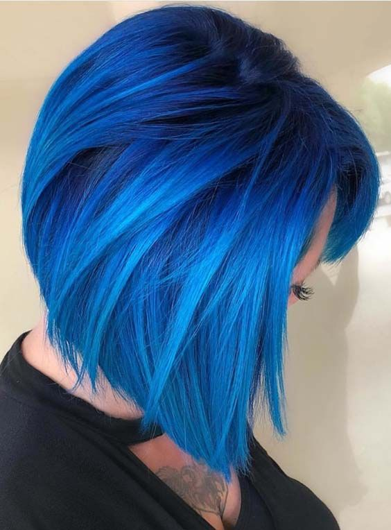 47 Bold Shades Of Blue Hair Colors For Women In 2018 Short Hair