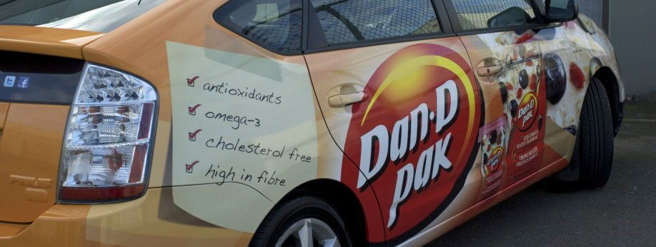 Dan D Pak Makes Cool And Healthy Food Just Like Their Vehicle Wrap Cool Car Wrap Cool Stuff Paks