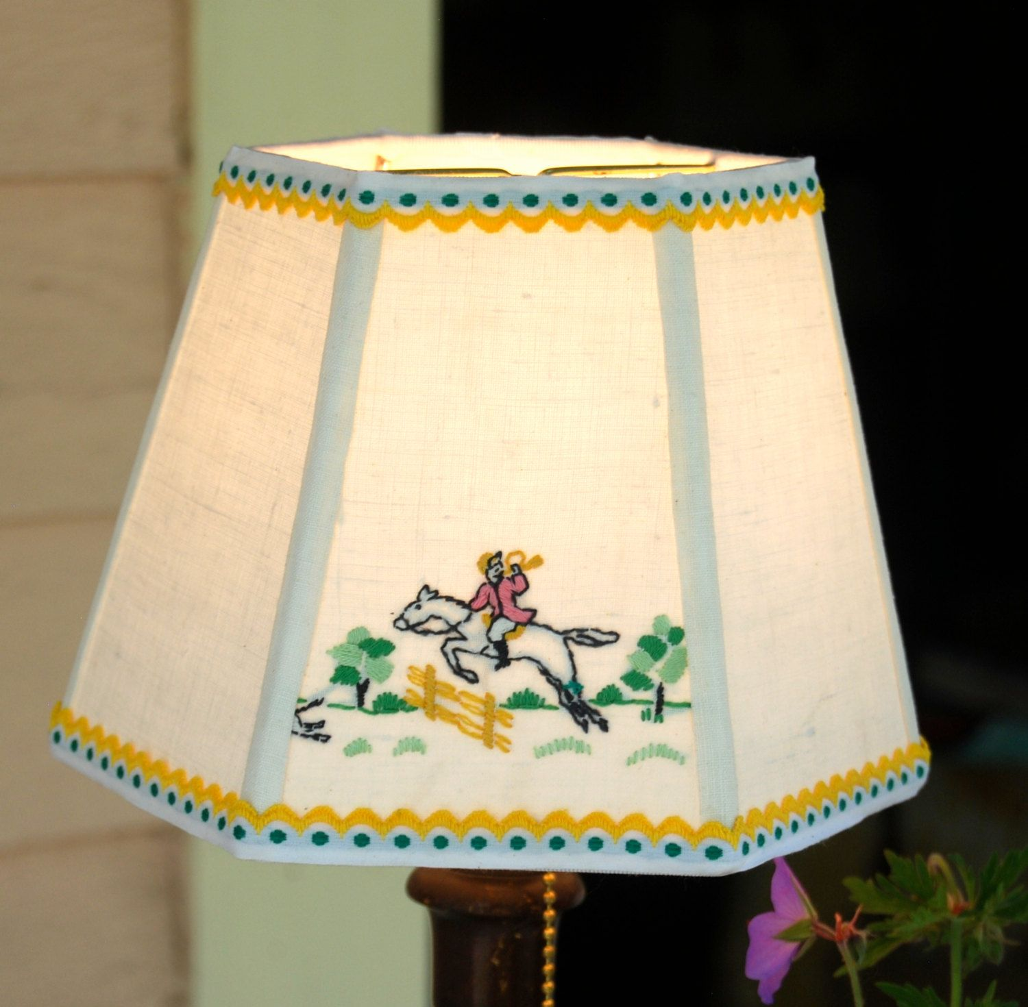 Equestrian Lamp Shade Horse Lover Lampshade, 5x8x6 Clip