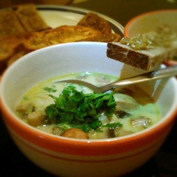 Mushroom & Sour Cream soup