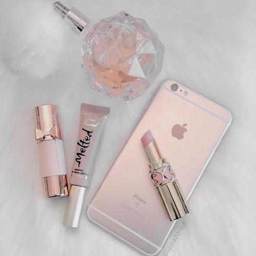 ̗̀  cabeswtr ̖́- Ariana Grande Lipstick, Rose Gold Accessories, Women  Accessories 9c70aa89a77