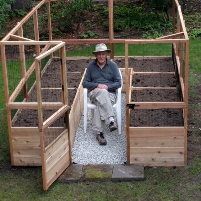 OLT Raised Cedar Garden Bed 8×8, 8×12 or 8,×16, With Deer Fence Options