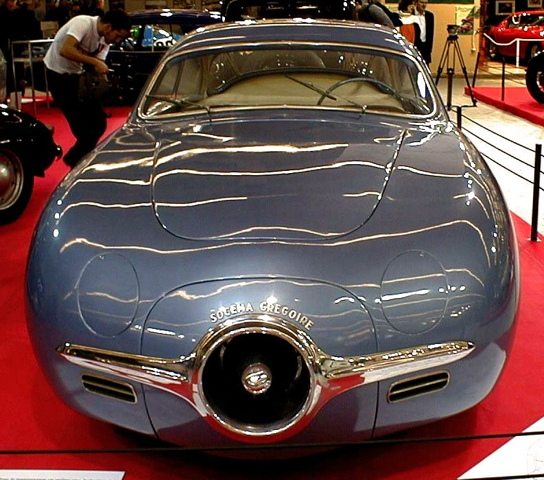Socema Gregoire, 1952. The first car to be powered by a gas turbine ...