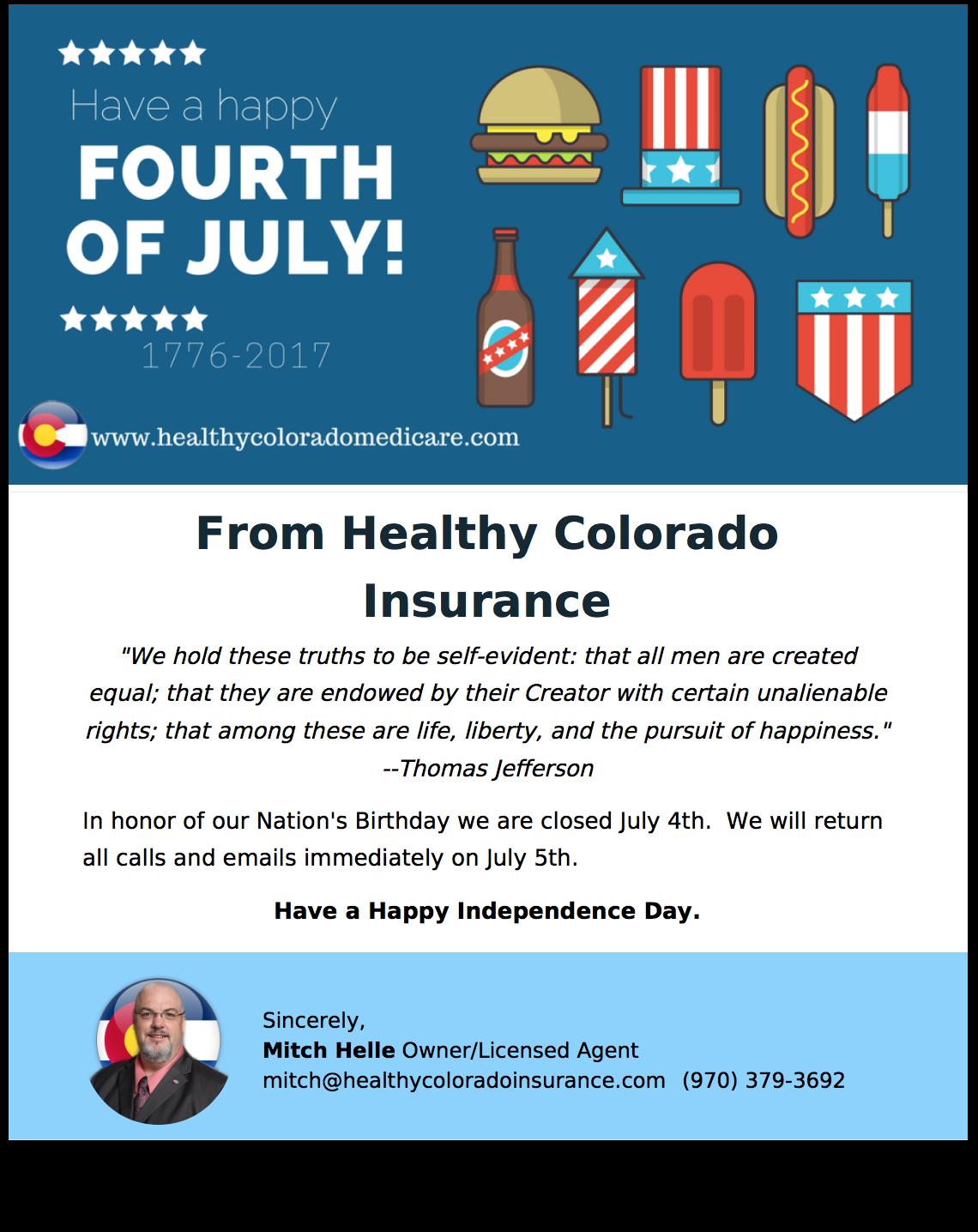 happyindependenceday from healthy colorado insurance