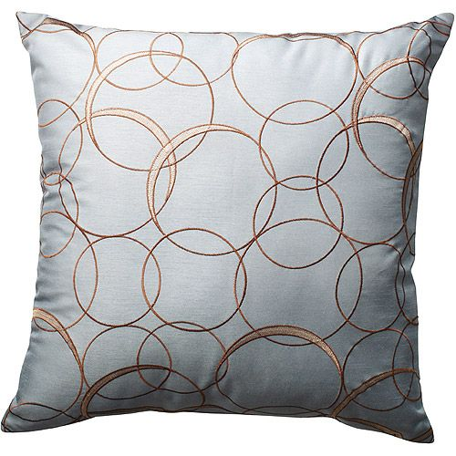 Hometrends Overlapping Circles Decorative Pillow, Blue apartment love