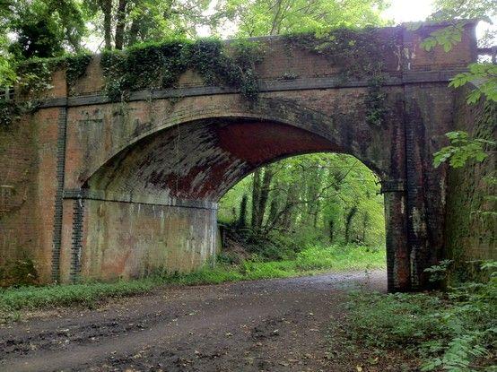 Old bridge over the old railway line
