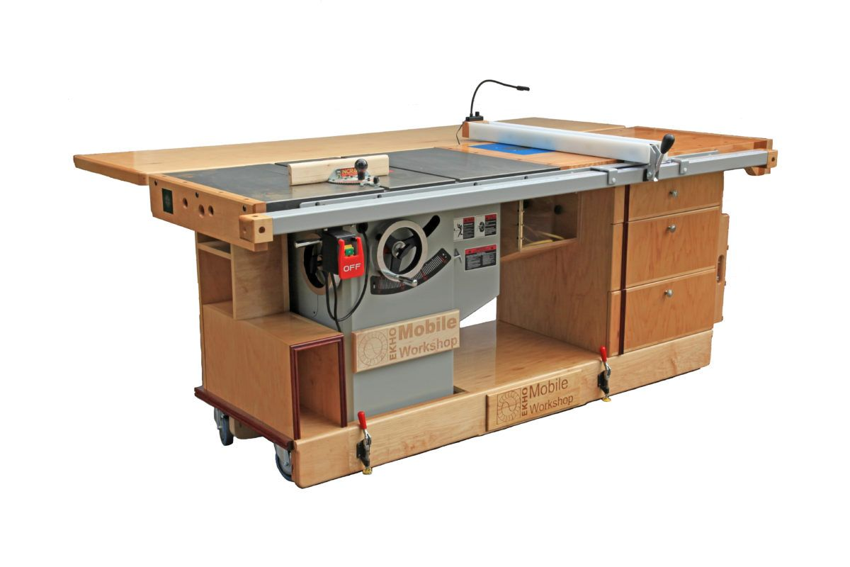 Ekho Mobile Workshop Portable Cabinet Saw Work Bench And Router Table Plans Available Now Carpinteria Y Ebanisteria Herramientas De Carpinteria Planos De Carpinteria