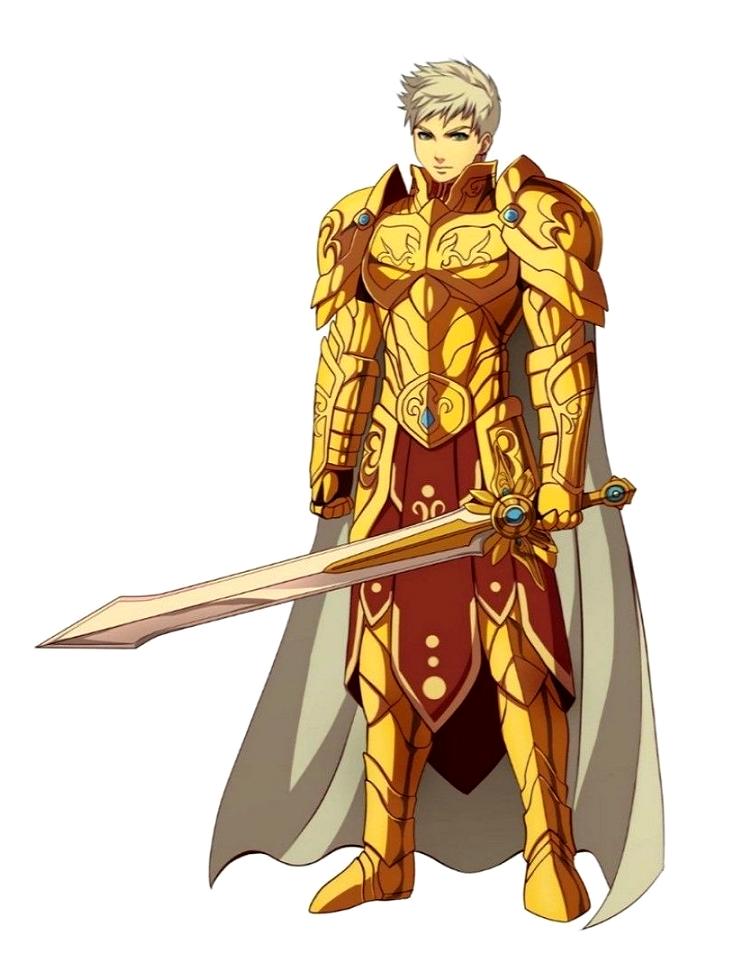 Male Human Golden Paladin Knight - Pathfinder PFRPG DND D&D 3.5 5th ed d20 fantasy | Fantasy ...