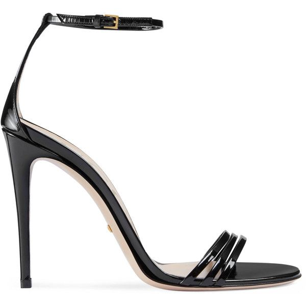 3eb9e9267d8298 Gucci Patent Leather Sandal ( 730) ❤ liked on Polyvore featuring shoes