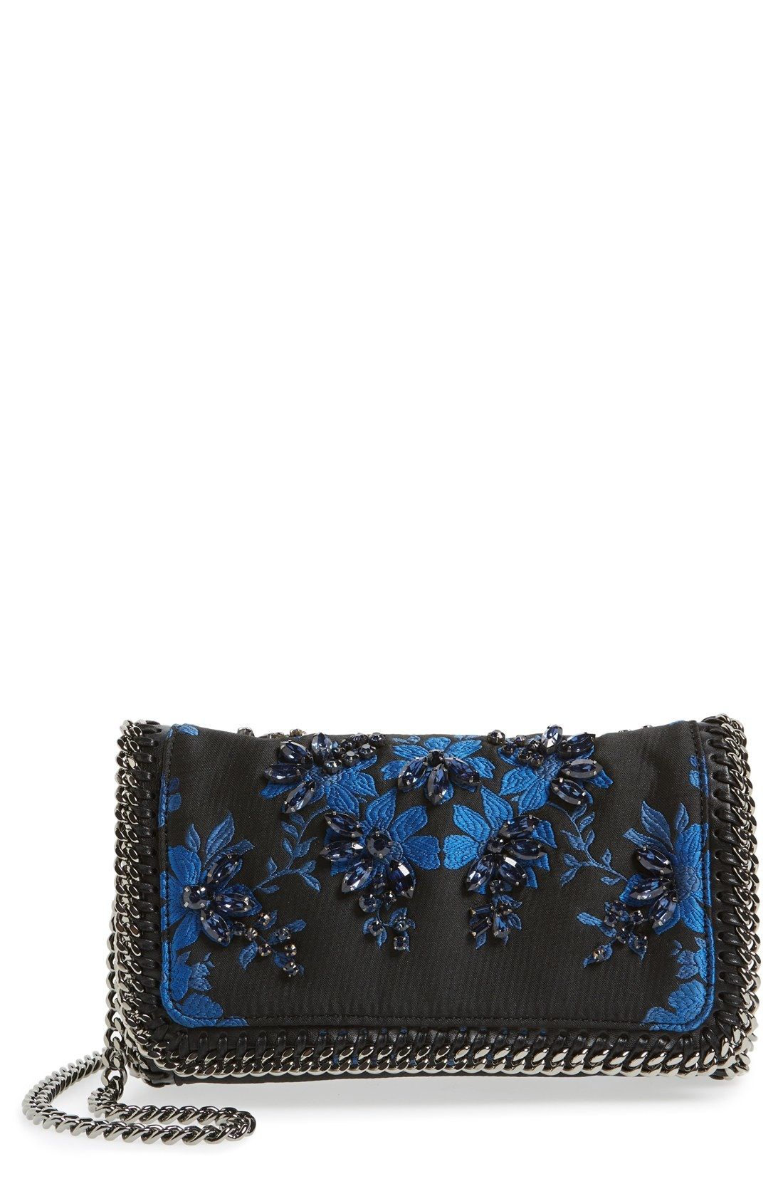 Stella McCartney 'Mini Falabella' Embroidered Crossbody Bag available at #Nordstrom