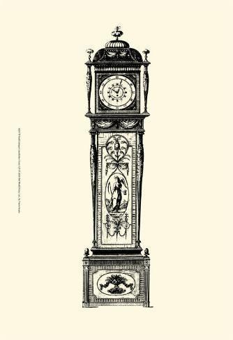 'Antique Grandfather Clock I' Art Print - | Art.com