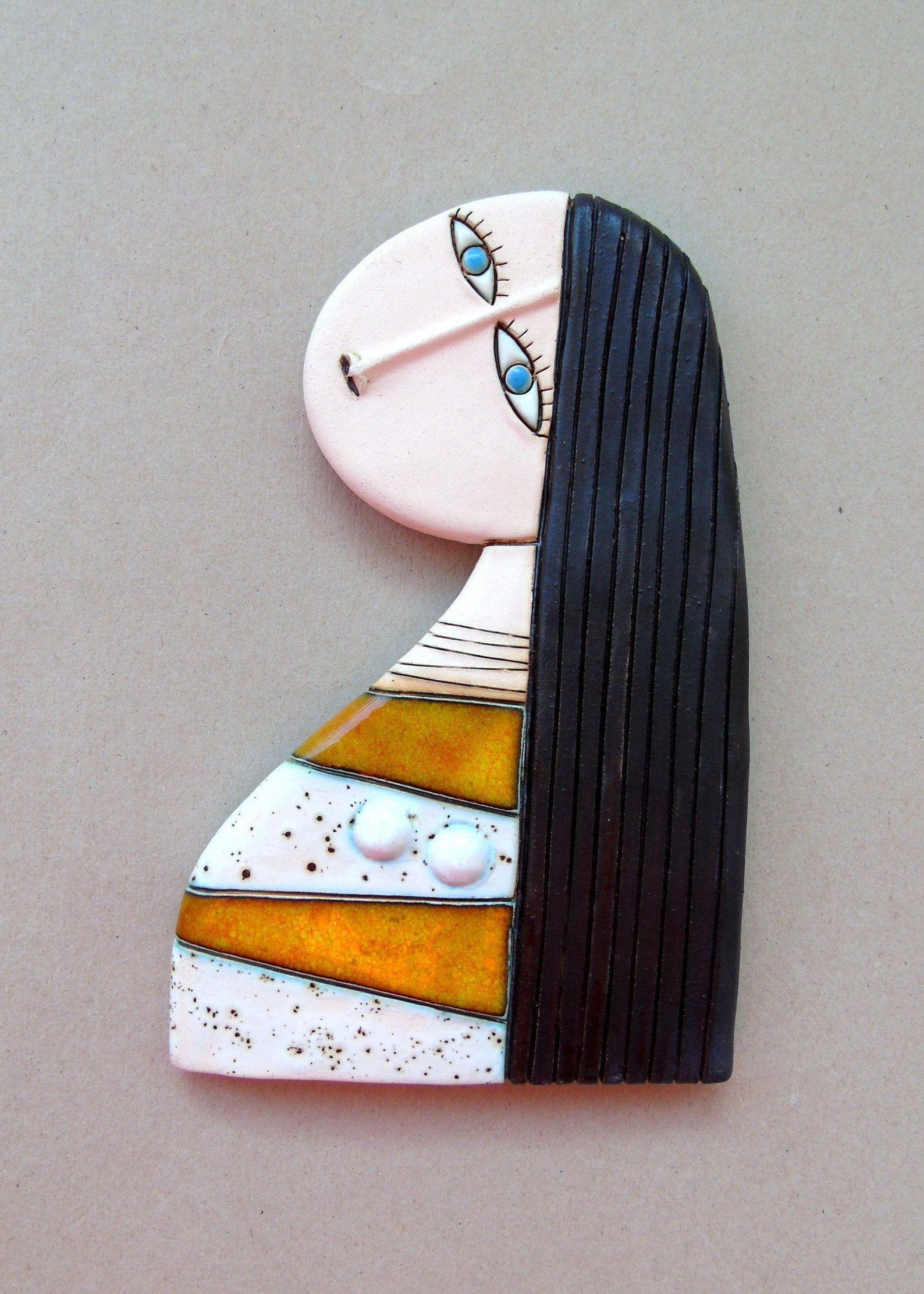 Ceramic art tile home decor wall hangingoriginal handmade