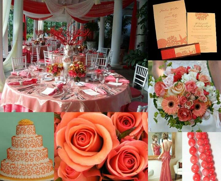 Pin By Mykinna Howard On The Day Pinterest Coral Weddings Coral