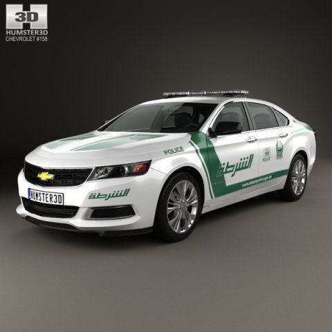Chevrolet Impala Police Dubai 2014 3d Model Max C4d Obj 3ds