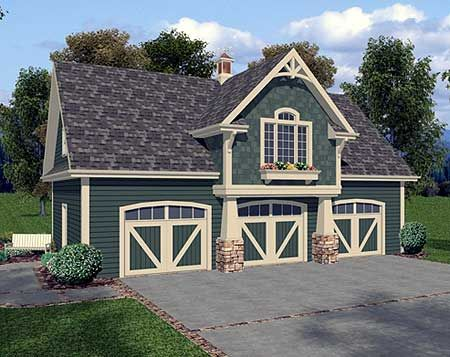 plan 20042ga: 3-car carriage house plan | carriage house plans