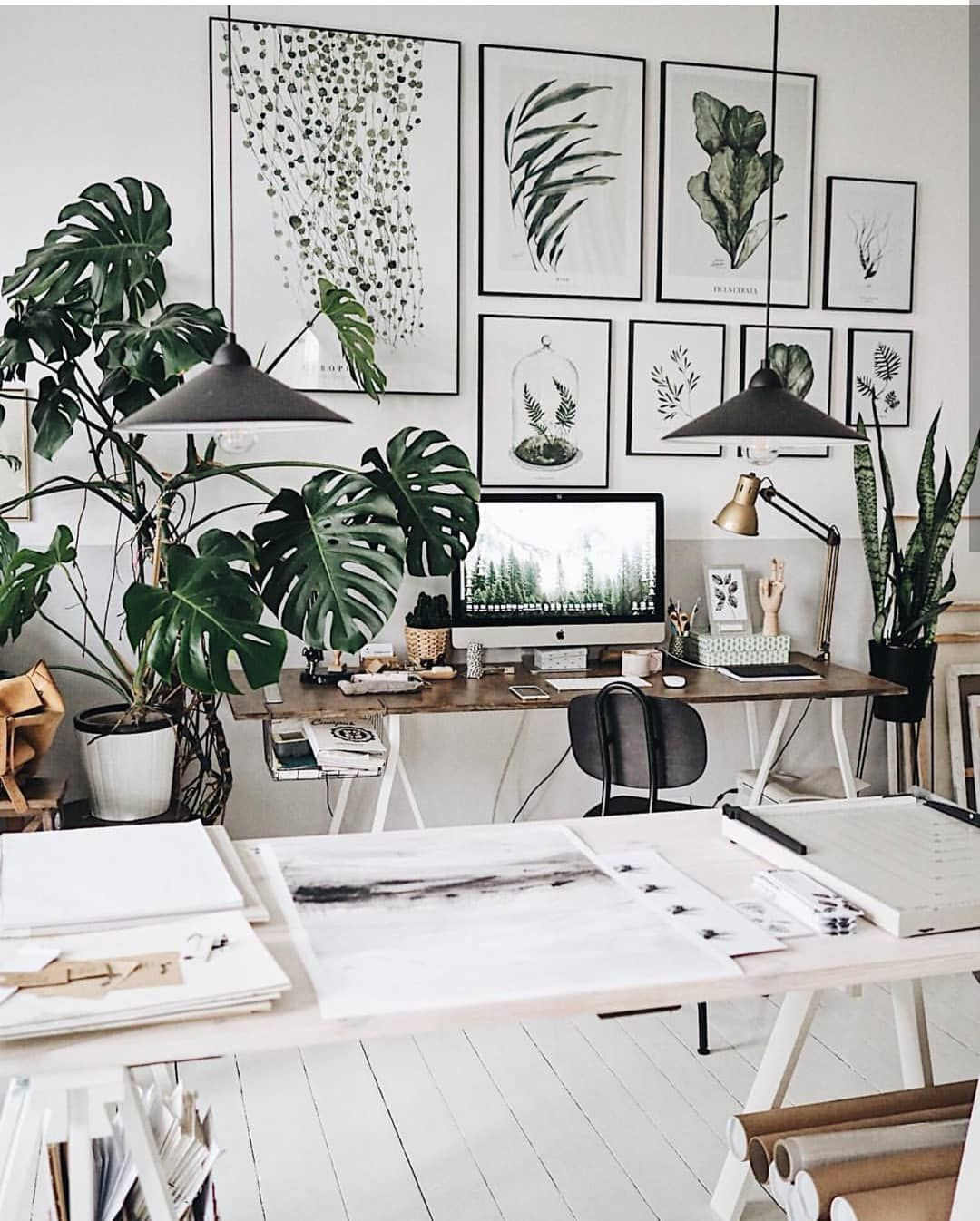 The perfect zen zone and office decor.  Workspace design, Home