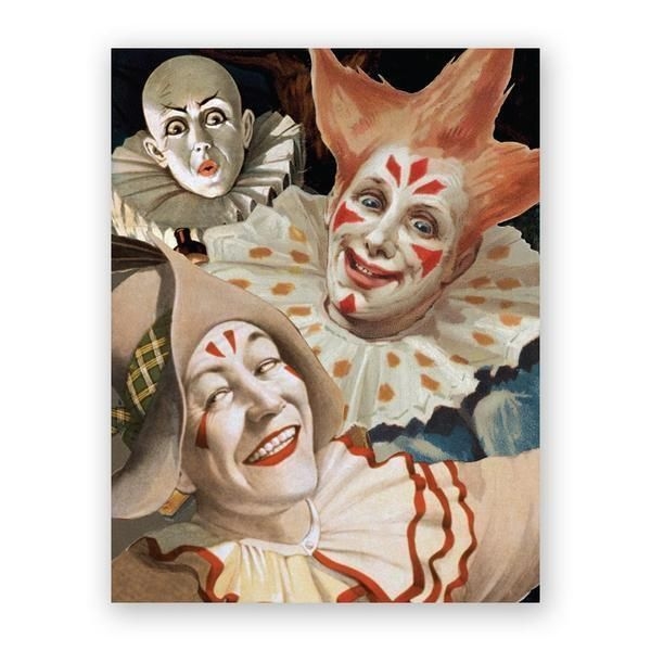 Scary Clown Birthday Card Products Pinterest Scary Clowns And