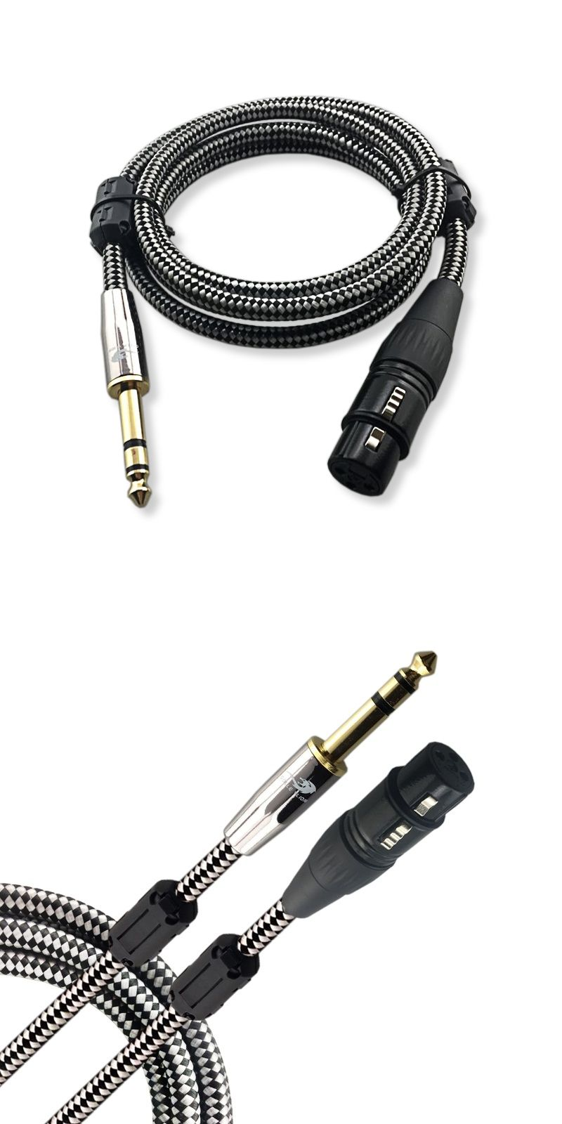 1m 2m 3m 5m 8m - 1/4\'\' Stereo Male 6.35mm to XLR Female 3 pin ...