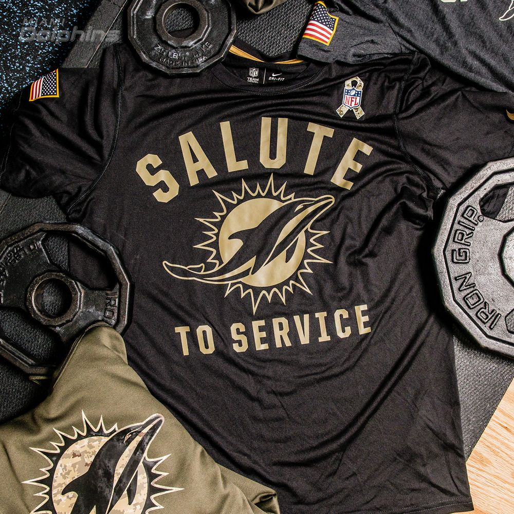 miami dolphins salute to service shirt