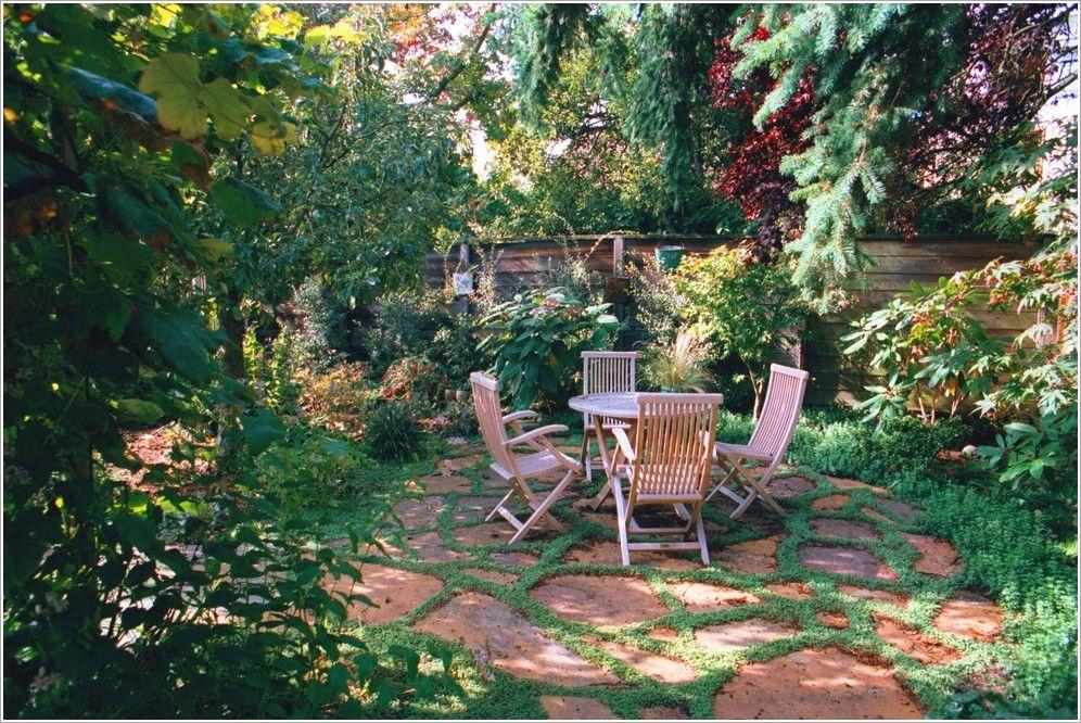 Landscape Rustic Backyard Flagstone Northwest Outdoor
