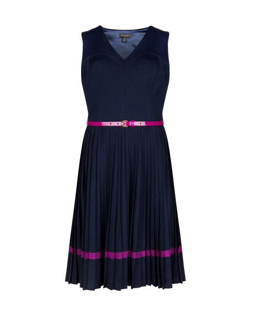 aa7b86e876af4a Pleated skirt dress - Navy