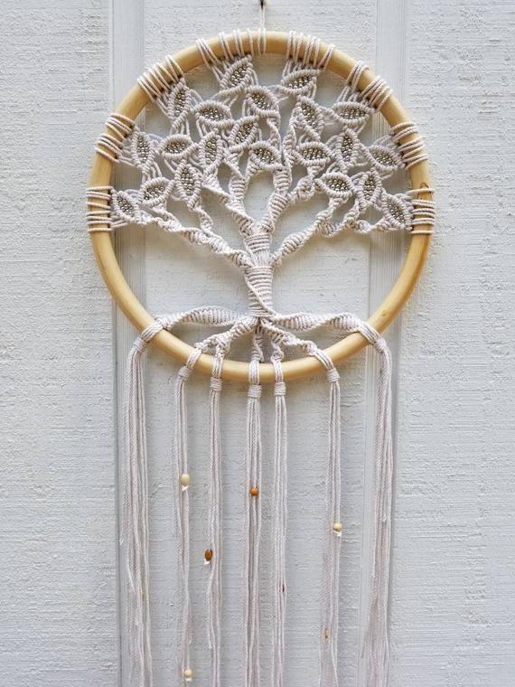 Tree of Life/Large Macrame Wall Hanging/Circle Art/Woven Wall Hanging/Macrame Art/Wall Decor/Yoga Decor/Circle Macrame/Zen  Baum des Lebens / große Makramee Wandbehang / Kreis Kunst /   Etsy  #ArtWall #ArtWoven #DecorCircle #DecorYoga #HangingCircle #HangingMacrame #LifeLarge #macrame #MacrameZen #TREE #wall